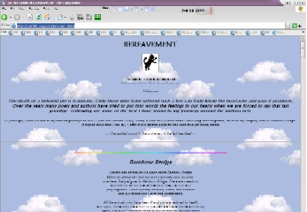 The Bereavement page